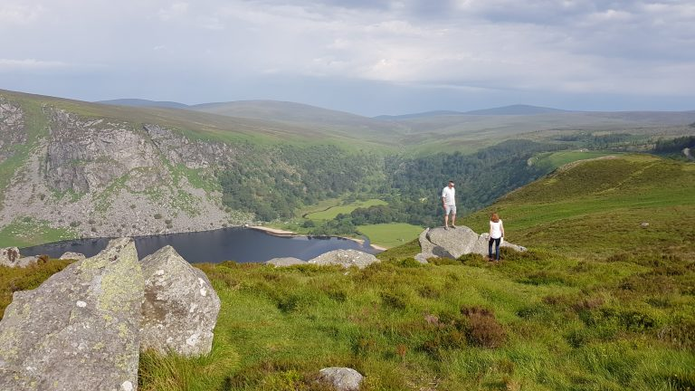"""Vikings TV series filmed in County Wicklow, photograph stop above Loch Tay """"Guinness Lake"""""""