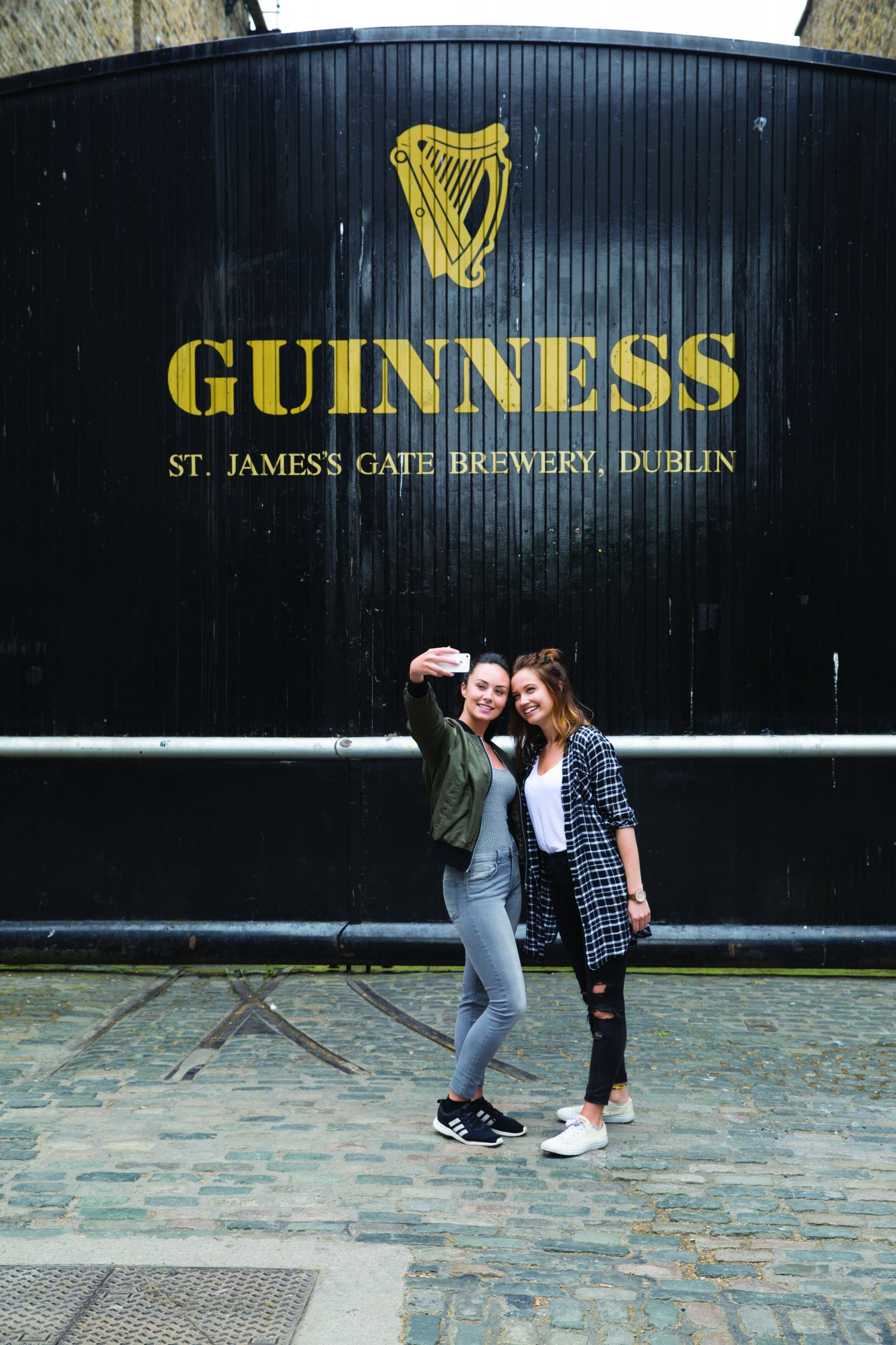 Pulling pints at Guinness Store House, Dublin