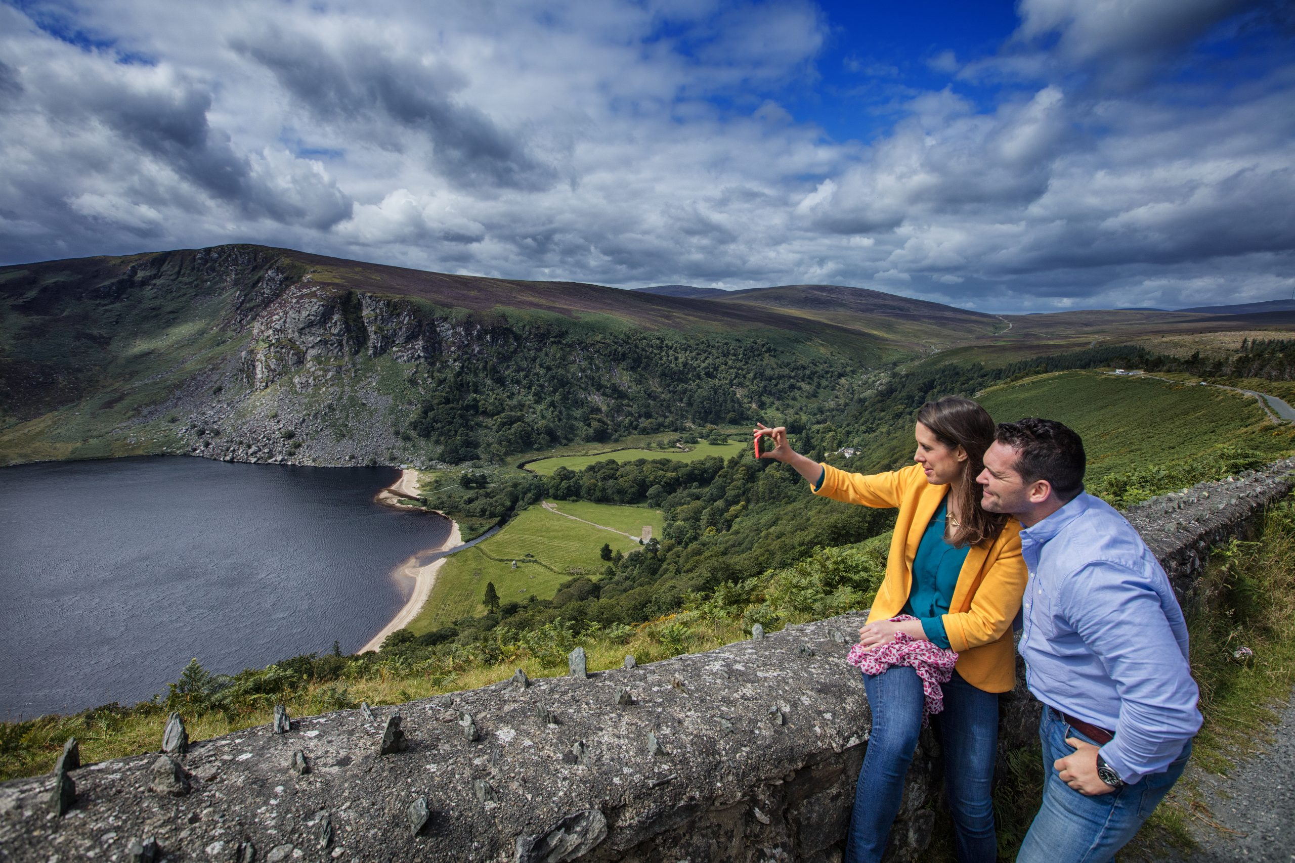 Wicklow day tour photo stop, Loch Tay, Guinness Lake, Ireland